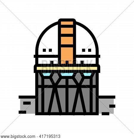 Building Planetarium Color Icon Vector. Building Planetarium Sign. Isolated Symbol Illustration