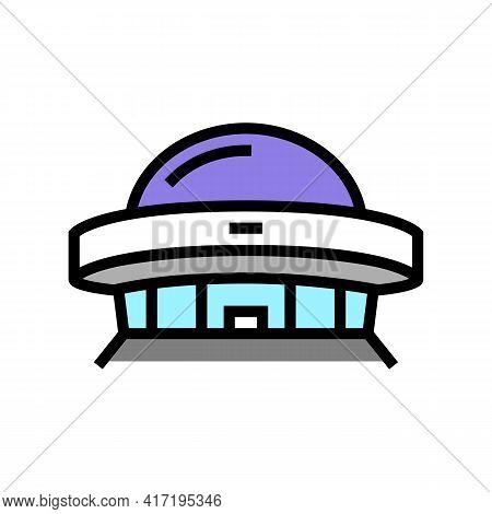 Construction Planetarium Color Icon Vector. Construction Planetarium Sign. Isolated Symbol Illustrat