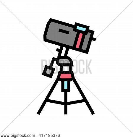 Catadioptric Planetarium Color Icon Vector. Catadioptric Planetarium Sign. Isolated Symbol Illustrat