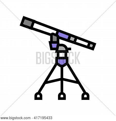 Refractor Planetarium Color Icon Vector. Refractor Planetarium Sign. Isolated Symbol Illustration