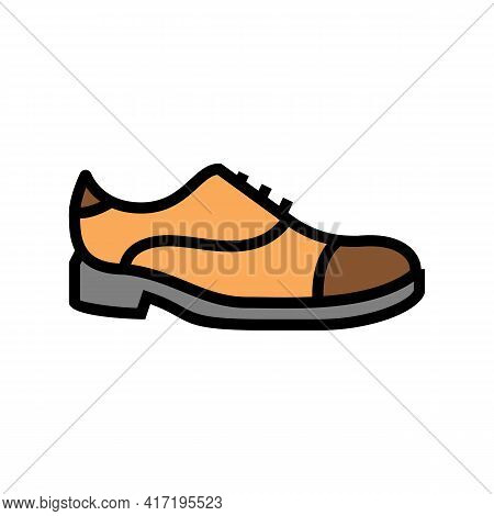 Leather Shoe Care Color Icon Vector. Leather Shoe Care Sign. Isolated Symbol Illustration