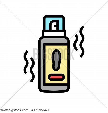 Deodorant Shoe Care Color Icon Vector. Deodorant Shoe Care Sign. Isolated Symbol Illustration