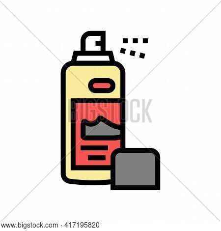 Paint Sprayer Shoe Care Color Icon Vector. Paint Sprayer Shoe Care Sign. Isolated Symbol Illustratio