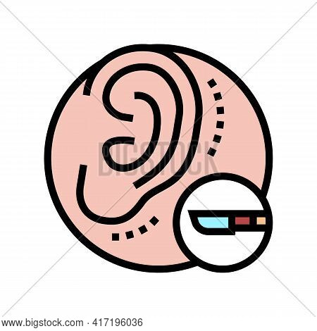 Ear Surgery Color Icon Vector. Ear Surgery Sign. Isolated Symbol Illustration