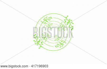 Twist Of Flower Branches With Shadow Graphic Design Vector Illustration.