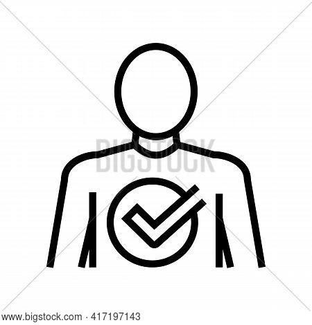 After Bariatric Line Icon Vector. After Bariatric Sign. Isolated Contour Symbol Black Illustration