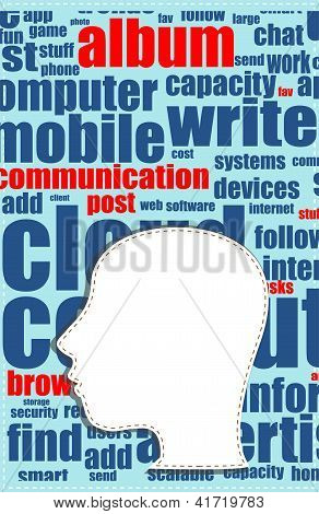 Word Cloud, Tag Cloud Text Business Concept And Arrangement For Human Resource. Word Collage