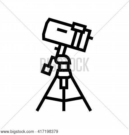 Catadioptric Planetarium Line Icon Vector. Catadioptric Planetarium Sign. Isolated Contour Symbol Bl
