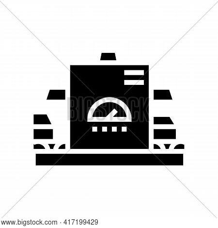 Manufacturing Conveyor Aluminium Line Icon Vector. Manufacturing Conveyor Aluminium Sign. Isolated C