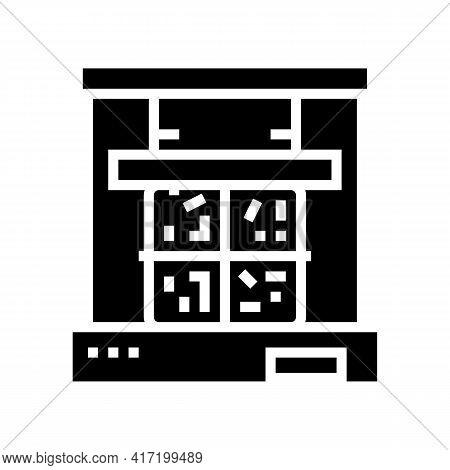 Pressing Aluminium Line Icon Vector. Pressing Aluminium Sign. Isolated Contour Symbol Black Illustra