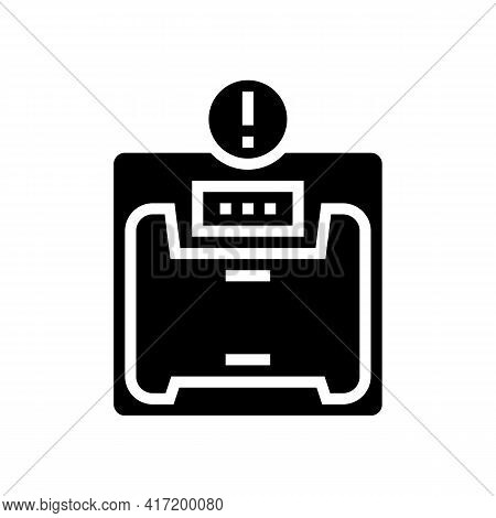 Excess Weight Bariatric Line Icon Vector. Excess Weight Bariatric Sign. Isolated Contour Symbol Blac