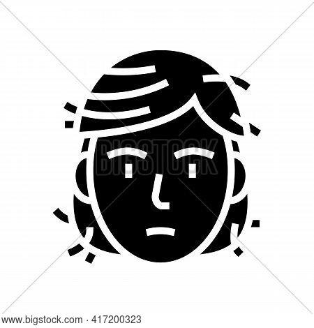 Hair Damage Disease Line Icon Vector. Hair Damage Disease Sign. Isolated Contour Symbol Black Illust
