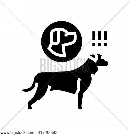 Dog Chasing Animal Line Icon Vector. Dog Chasing Animal Sign. Isolated Contour Symbol Black Illustra