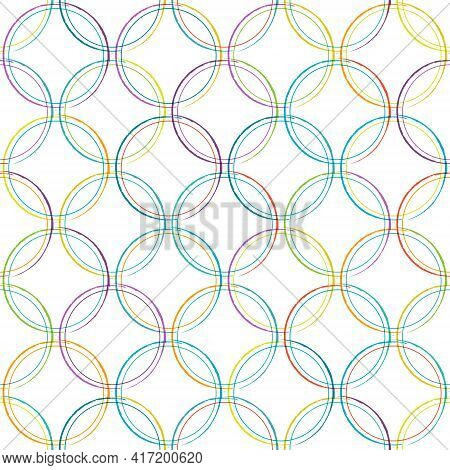 Seamless Pattern Of Intersecting Circles For Textures, Textiles, Packaging And Simple Backgrounds. F