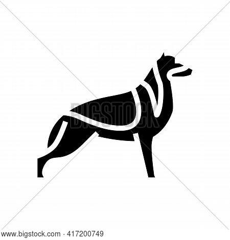 German Shepherd Dog Line Icon Vector. German Shepherd Dog Sign. Isolated Contour Symbol Black Illust