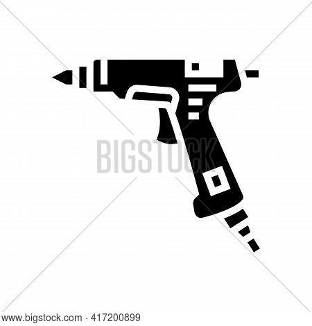 Glue Pistol Jewellery Line Icon Vector. Glue Pistol Jewellery Sign. Isolated Contour Symbol Black Il