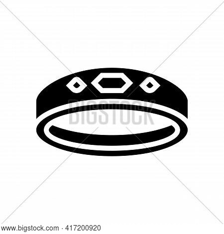 Rings Jewellery Line Icon Vector. Rings Jewellery Sign. Isolated Contour Symbol Black Illustration