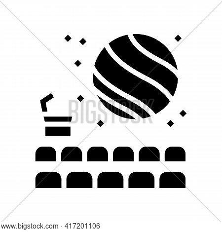 Hall Of Planetarium Line Icon Vector. Hall Of Planetarium Sign. Isolated Contour Symbol Black Illust