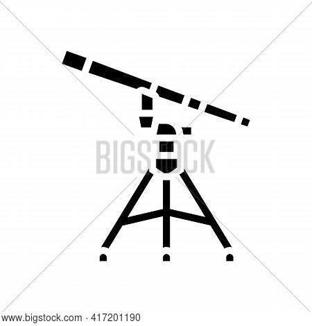 Refractor Planetarium Line Icon Vector. Refractor Planetarium Sign. Isolated Contour Symbol Black Il