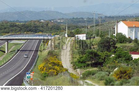 A Bridge Over The Road Between The Hills. Porto
