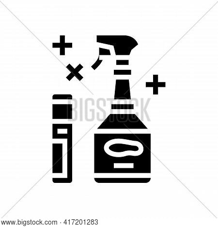 Sole Cleaner Shoe Care Line Icon Vector. Sole Cleaner Shoe Care Sign. Isolated Contour Symbol Black
