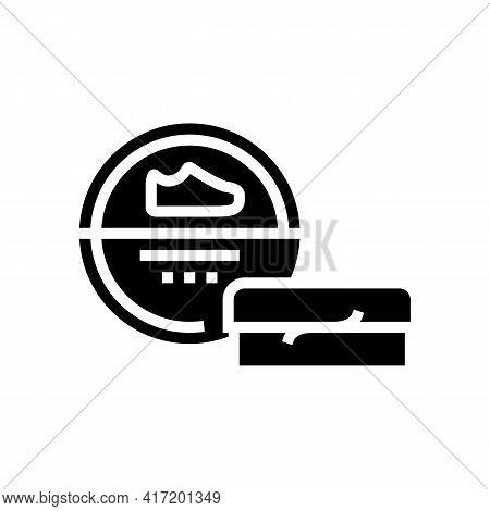 Polishing Paste Shoe Care Line Icon Vector. Polishing Paste Shoe Care Sign. Isolated Contour Symbol