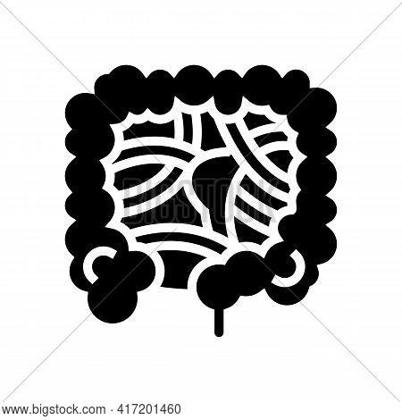 Intestinal Obstruction Disease Line Icon Vector. Intestinal Obstruction Disease Sign. Isolated Conto