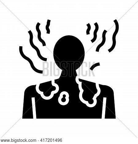 Sunburn Skin Disease Line Icon Vector. Sunburn Skin Disease Sign. Isolated Contour Symbol Black Illu