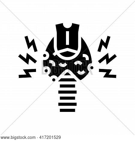 Thyroid Disorder Disease Line Icon Vector. Thyroid Disorder Disease Sign. Isolated Contour Symbol Bl
