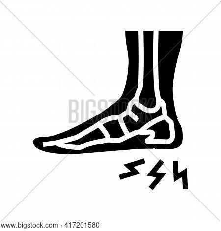 Heel Spur Disease Line Icon Vector. Heel Spur Disease Sign. Isolated Contour Symbol Black Illustrati