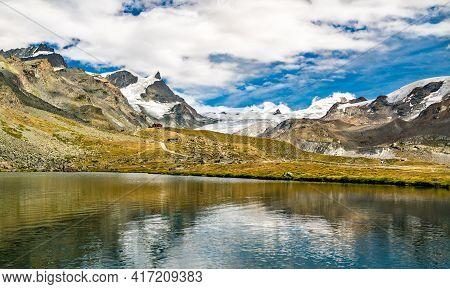 Stellisee Lake Near Zermatt In Swiss Alps
