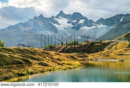 Leisee Lake Near Zermatt In Swiss Alps