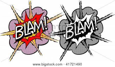 Cartoon explosion pop-art style