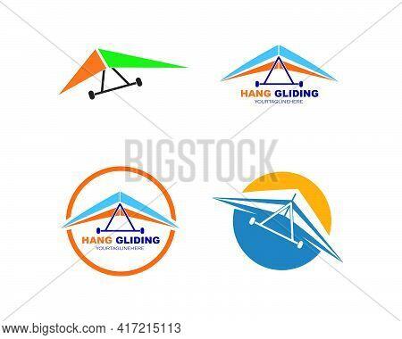 Hang Gliding Icon Vector Illustration Design