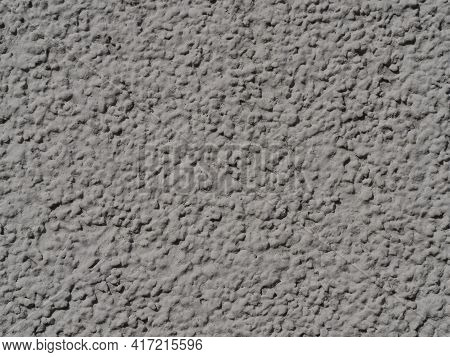 Light Grey Rough Grunge Plaster With Grain Textured Background