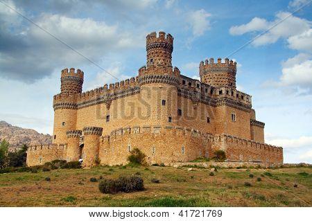 MADRID,  SPAIN - 20 juny, 2009, Manzanares el Real Castle (Spain) build in the 15th. century