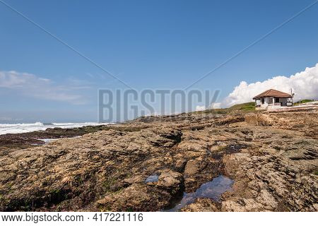 The Golden Coast Of Africa As The Cliffs Emerge During The Time When The Sea Leaves The Shores Outsi