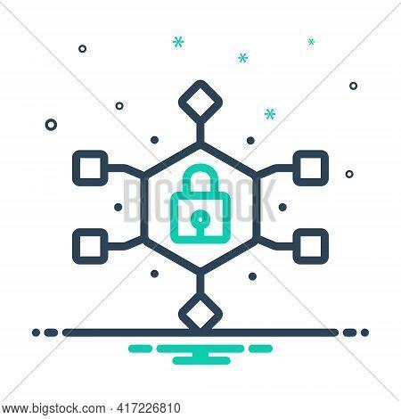 Mix Icon For Data-encryption Data Encryption Gadget Technology