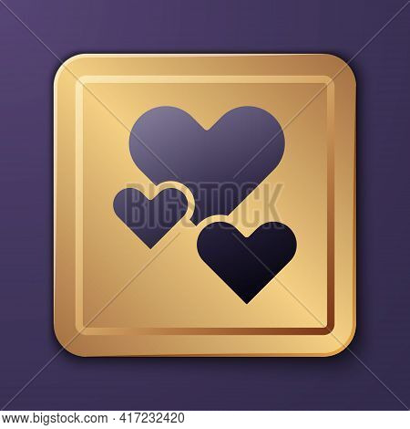 Purple Heart Icon Isolated On Purple Background. Romantic Symbol Linked, Join, Passion And Wedding.