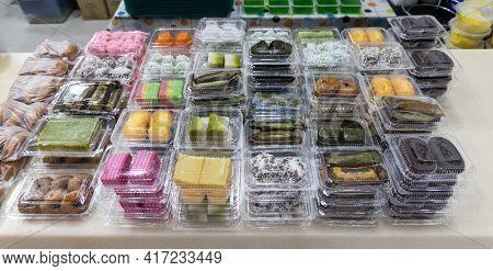 Assorted Sweet Nyony Kueh Kuih For Iftar Or Buka Puasa By Muslim In Ramadhan Month In Malaysia