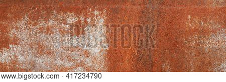 Rusty Iron Surface Texture In White Paint. Corrosion Of Metal. Corrosive Iron. Aging Of Metal. Retro