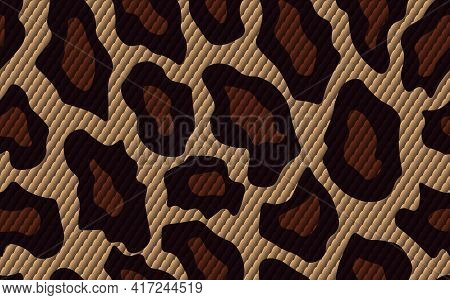 Abstract Modern Snake Skin Seamless Pattern. Animals Trendy Background. Brown Decorative Vector Stoc