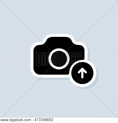 Photo Upload Icon. Picture Flat Icons. Uploading Your Photo Logo. Camera Sign. Vector On Isolated Ba