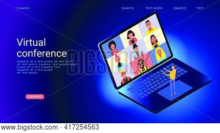 Online Chat. Collective Virtual Meeting