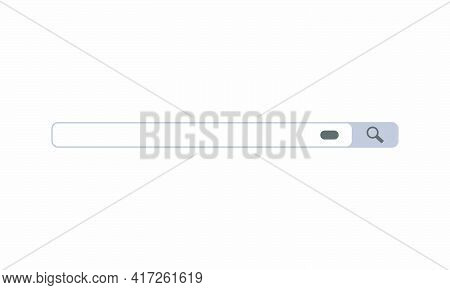 Browse Search Bar Vector Illustration. Creative Icon Isolated On White Background.