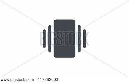 Vibrate Mode Icon Isolated On White Background. Vector Illustration.