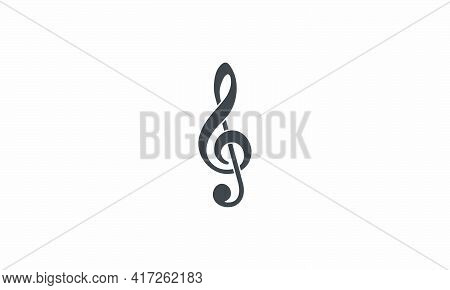 Clef Icon. Vector Illustration. Isolated On White Background.