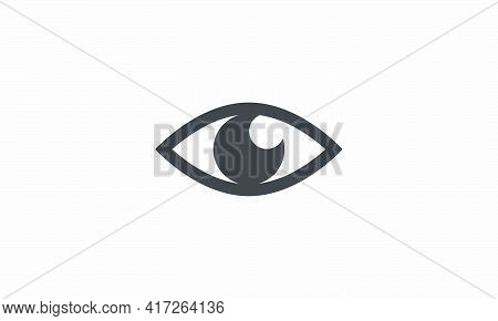 The Eye Sees Vector Illustration. Isolated On Wite Background.