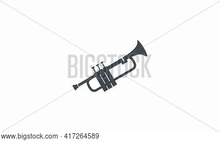 Trumpet Icon. Isolated On White Background. Vector Illustration.