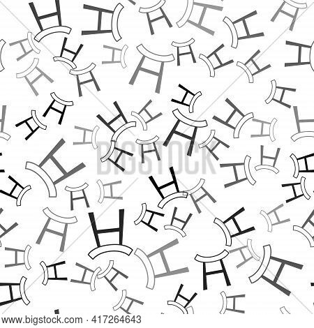 Black Japan Gate Icon Isolated Seamless Pattern On White Background. Torii Gate Sign. Japanese Tradi